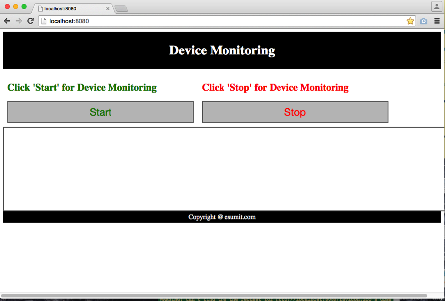 DeviceMonitor Web Interface