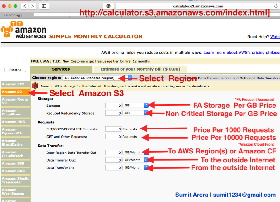 Example of AWS S3 Pricing 3
