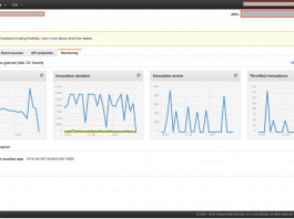 A real AWS Lambda screen snapshot